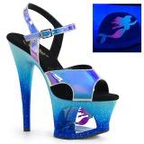 Sininen 18 cm MOON-711MER Neon platform korkokengät naisten