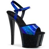 Sininen 18 cm SKY-309HG Hologrammi platform korkokengät naisten