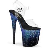 Sininen 20 cm FLAMINGO-808SS kimallus platform sandaalit naisten
