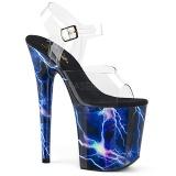 Sininen 20 cm FLAMINGO-808STORM Hologrammi platform korkokengät naisten