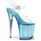 Sininen 20 cm FLAMINGO-808T Akryyli Platform Korkeakorkoiset Sandaalit