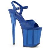 Sininen 20 cm FLAMINGO-809T Akryyli platform korkokengät naisten