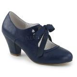 Sininen 6,5 cm WIGGLE-32 Pinup avokkaat kengät paksu korko