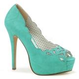 Sininen Keinonahka 13,5 cm BELLA-30 naisten avokärkiset avokkaat kengät