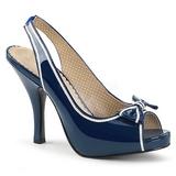 Sininen Kiiltonahka 11,5 cm PINUP-10 suuret koot sandaalit naisten