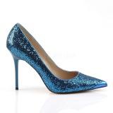 Sininen Kimalle 10 cm CLASSIQUE-20 Avokkaat Kengät Piikkikorko