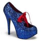 Sininen Kimalle 14,5 cm TEEZE-10G Platform Avokkaat Kengät