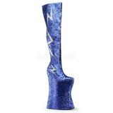 Sininen Kimalle 34 cm VIVACIOUS-3016 Reisisaappaat varten Drag Queen