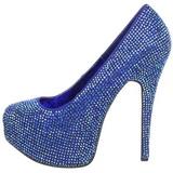 Sininen Kristalli 14,5 cm Burlesque TEEZE-06R Platform Avokkaat Kengät