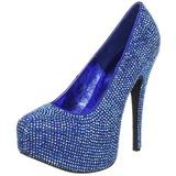 Sininen Kristalli 14,5 cm TEEZE-06R Platform Avokkaat Kengät