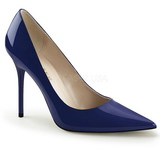 Sininen Lak 10 cm CLASSIQUE-20 suuret koot stilettos kengät