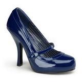 Sininen Lakatut 12 cm retro vintage CUTIEPIE-02 avokkaat mary jane kengät piilotettu platform