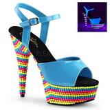 Sininen Lakka 15 cm DELIGHT-609RBS Sandaalit Neon Platform