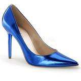Sininen Metallinen 10 cm CLASSIQUE-20 Avokkaat Kengät Piikkikorko
