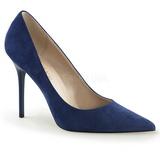 Sininen Mokkanahka 10 cm CLASSIQUE-20 Avokkaat Kengät Piikkikorko