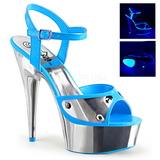 Sininen Neon 15 cm DELIGHT-609NC Sandaalit Kromi Platform