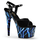 Sininen Neon 18 cm Pleaser ADORE-709NLB Platform Sandaletit
