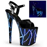 Sininen Neon 20 cm Pleaser FLAMINGO-809NLB Platform Sandaletit