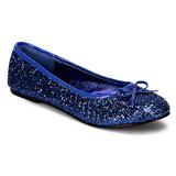 Sininen STAR-16G kimallus ballerina kengät naisten matalat