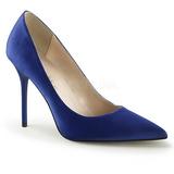 Sininen Satiini 10 cm CLASSIQUE-20 Avokkaat Kengät Piikkikorko