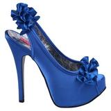 Sininen Satiini 14,5 cm Burlesque TEEZE-56 Korkeakorkoiset Kengät
