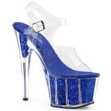 Sininen kimalle 18 cm Pleaser ADORE-708G tankotanssi kengät