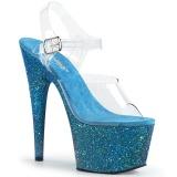 Sininen kimalle 18 cm Pleaser ADORE-708LG tankotanssi kengät