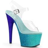 Sininen kimalle 18 cm Pleaser ADORE-708OMBRE tankotanssi kengät