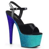Sininen kimalle 18 cm Pleaser ADORE-709OMB tankotanssi kengät