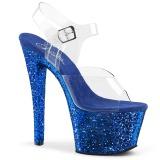 Sininen kimalle 18 cm Pleaser SKY-308LG tankotanssi kengät