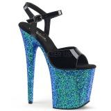 Sininen kimalle 20 cm Pleaser FLAMINGO-809LG tankotanssi kengät