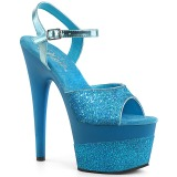 Siniturkoosi 18 cm ADORE-709-2G kimallus platform sandaalit naisten