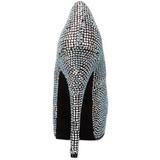 Titaani Kristalli 14,5 cm Burlesque TEEZE-06R Platform Avokkaat Kengät