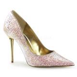 Vaaleanpunainen 10 cm APPEAL-20G matala stilettikorko kengät - matalakorkoiset avokkaat