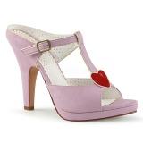 Vaaleanpunainen 10 cm retro vintage SIREN-09 Korkeakorkoiset Muulit Kengät
