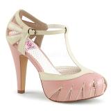 Vaaleanpunainen 11,5 cm BETTIE-25 Pinup avokkaat kengät piilotettu platform
