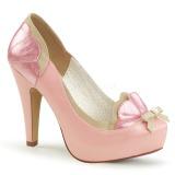 Vaaleanpunainen 11,5 cm retro vintage BETTIE-20 Pinup avokkaat kengät piilotettu platform
