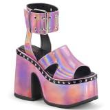 Vaaleanpunainen 12,5 cm Demonia CAMEL-102 lolita sandaalit platform
