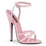 Vaaleanpunainen 15 cm DOMINA-108 korkokengät miehellä