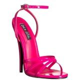 Vaaleanpunainen 15 cm Devious DOMINA-108 naisten korkosandaalit