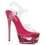Vaaleanpunainen 16,5 cm ECLIPSE-608DM sandaalit piikkikorko