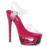 Vaaleanpunainen 16,5 cm ECLIPSE-608GT sandaalit piikkikorko