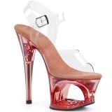 Vaaleanpunainen 18 cm MOON-708GFT kimallus platform sandaalit naisten