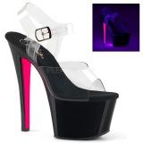 Vaaleanpunainen 18 cm SKY-308TT Neon platform korkokengät naisten