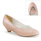 Vaaleanpunainen 4 cm LULU-05 Pinup avokkaat kengät alhainen korot