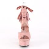 Vaaleanpunainen Keinonahka 15 cm DELIGHT-679 korokepohja korkokengät nilkkalenkki