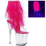 Vaaleanpunainen Marabou Höyhenet 20 cm FLAMINGO-1017MFF tankotanssi kengät