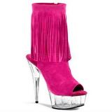 Vaaleanpunainen Mokkanahka 15 cm DELIGHT-1019 naisten hapsuilla nilkkurit korkeat korko