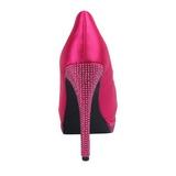 Vaaleanpunainen Satiini 13,5 cm BELLA-12R Kristalli Platform Avokkaat Kengät