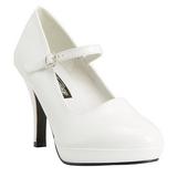 Valkoinen 10 cm CONTESSA-50 Mary Jane Avokkaat Kengät